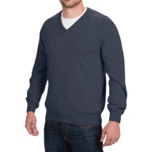 Johnstons of Elgin V-Neck Sweater - Scottish Cashmere (For Men) in Midnight - Closeouts