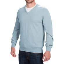 Johnstons of Elgin V-Neck Sweater - Scottish Cashmere (For Men) in Periwinkle - Closeouts