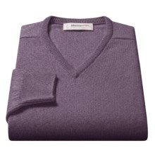 Johnstons of Elgin V-Neck Sweater - Scottish Cashmere (For Men) in Pigeon - Closeouts
