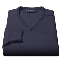 Johnstons of Elgin V-Neck Sweater - Scottish Cashmere (For Men) in Summer Navy - Closeouts