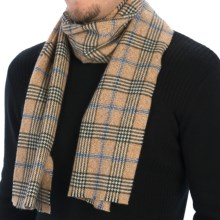 Johnstons of Elgin Vintage Marl Check Scarf - Cashmere (For Men and Women) in Brown Marl - Closeouts