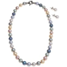 "Joia de Majorca 10mm Organic Pearl 16"" Necklace and Earring Set in Pastel - Closeouts"