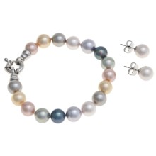 Joia de Majorca 10mm Organic Pearl Bracelet and Earring Set in Pastel - Closeouts