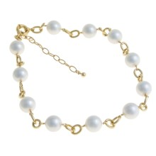 Joia de Majorca Organic Pearl and Chain Necklace - 14mm in Gold - Closeouts