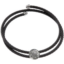 Jokara Black Cable Bracelet - Adjustable in Black - Closeouts