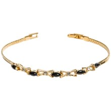 Jokara Black Onyx and Cubic Zirconia Bracelet in Gold - Closeouts