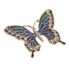 Jokara Butterfly Pin - Austrian Crystal Stones in Multi - Closeouts