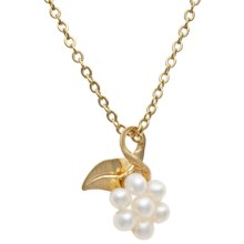 Jokara Cluster Pearl Pendant Necklace in Gold - Closeouts