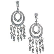 Jokara Crystal Chandelier Earrings in Silver - Closeouts