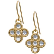 Jokara Crystal Floral Earrings in Gold - Closeouts