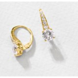 Jokara Cubic Zirconia Pave Earrings - Sterling Silver, 3CT