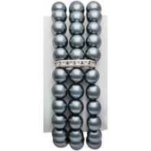 Jokara Glass Pearl Bracelet - Stretch in Grey - Closeouts