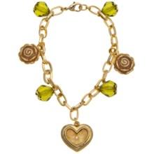 Jokara Gold Charm Bracelet in Gold - Closeouts