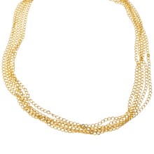 Jokara Gold Multi-Chain Necklace - Base Metal in Gold - Closeouts