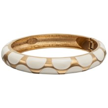 Jokara Hinged Enamel Bracelet in White - Closeouts