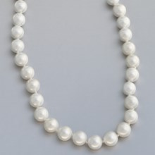 Jokara Shell Pearl Necklace - 10mm in White - Closeouts