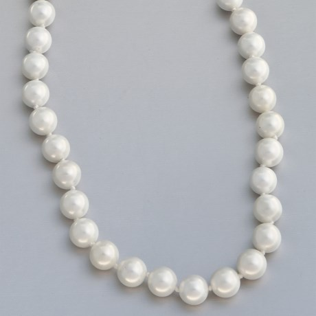 Jokara Shell Pearl Necklace - 10mm in Champagne