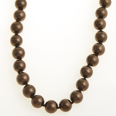 Jokara Shell Pearl Necklace - 12mm in Brown