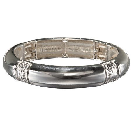 Jokara Stretch Bangle in Silver