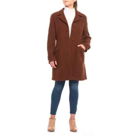 Jonathan Michael Basketweave Metro Coat (For Women) in Brown - Closeouts