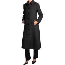 Jonathan Michael Camel Hair Coat - Back Pleat, Half Belt Back (For Women) in Black - Closeouts