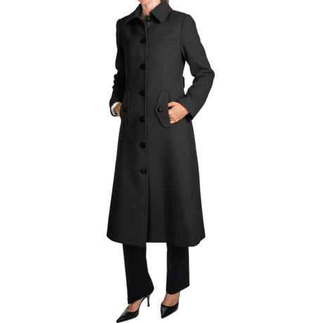 Jonathan Michael Camel Hair Coat - Back Pleat, Half Belt Back (For Women) in Black