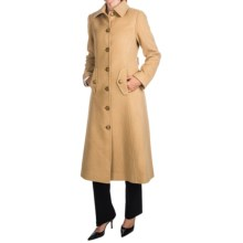 Jonathan Michael Camel Hair Coat - Back Pleat, Half Belt Back (For Women) in Camel - Closeouts