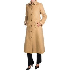 Jonathan Michael Camel Hair Coat - Back Pleat, Half Belt Back (For Women) in Camel