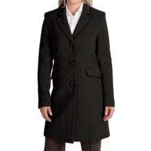 Jonathan Michael Camel Hair Coat - Notch Collar (For Women) in Black - Closeouts