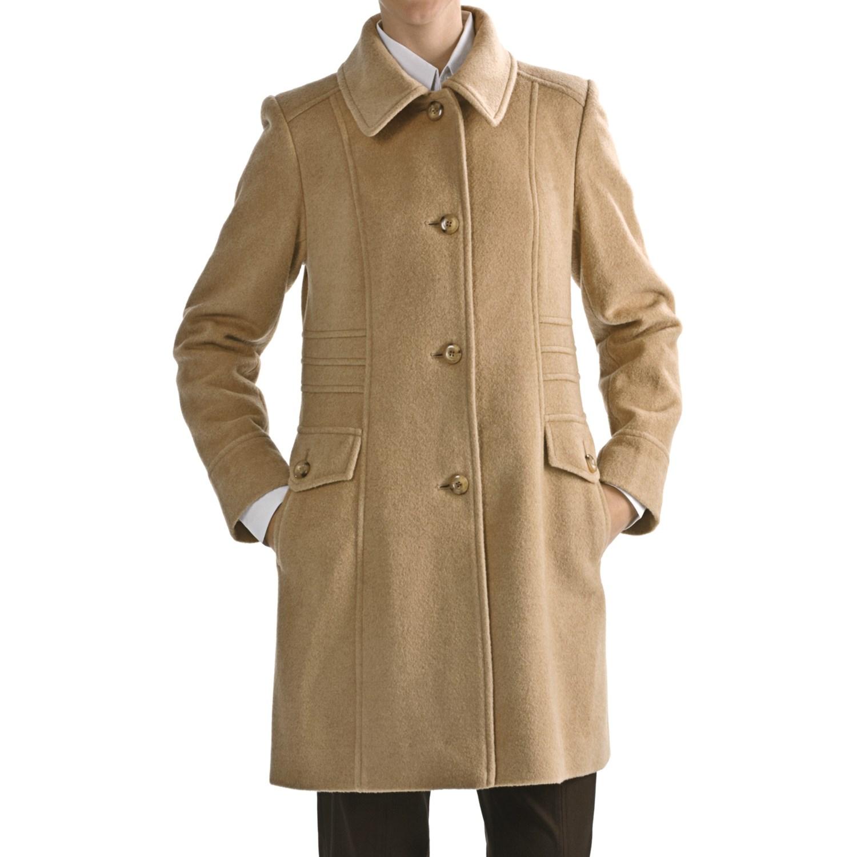Womens camel wool coat