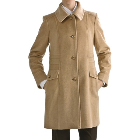 Jonathan Michael Camel Hair-Merino Wool Coat (For Women) in Camel
