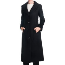 Jonathan Michael Cashmere Shawl Collar Coat - Half Belt Back (For Women) in Black - Closeouts