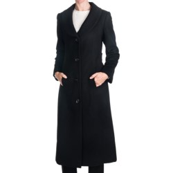 Jonathan Michael Cashmere Shawl Collar Coat - Half Belt Back (For Women) in Black