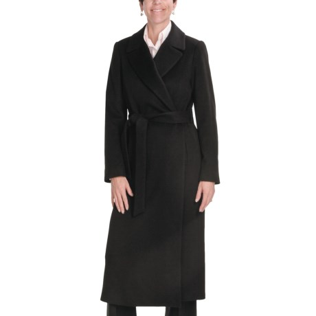 Jonathan Michael Coat - Merino Wool-Cashmere (For Plus Size Women) in Black