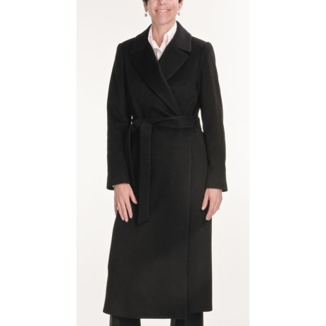 Jonathan Michael Coat - Merino Wool-Cashmere (For Women) in Black
