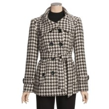 Jonathan Michael Double-Breasted Coat - Belted (For Women) in Black/Brown/Grey - Closeouts