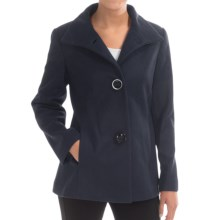 Jonathan Michael Lambswool Coat (For Women) in Black - Closeouts