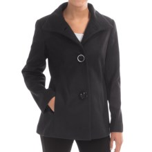 Jonathan Michael Lambswool Coat (For Women) in Charcoal - Closeouts