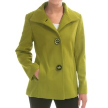 Jonathan Michael Lambswool Coat (For Women) in Kiwi - Closeouts