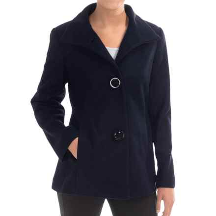 Jonathan Michael Lambswool Coat (For Women) in Navy - Closeouts