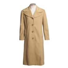 Jonathan Michael Polished Camel Hair Coat (For Plus Size Women) in Camel - Closeouts