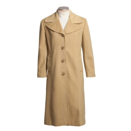 Jonathan Michael Polished Camel Hair Coat (For Plus Size Women) in Camel