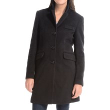 Jonathan Michael Polished Camel Hair Coat (For Women) in Black - Closeouts