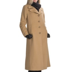Jonathan Michael Polished Camel Hair Coat - Single-Breasted (For Women) in Black