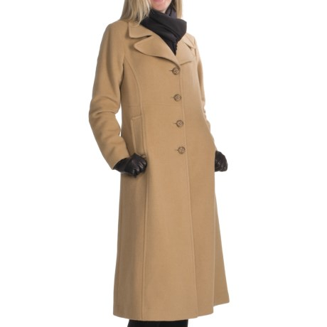 Jonathan Michael Polished Camel Hair Coat - Single-Breasted (For Women)