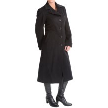Jonathan Michael Polished Camel Hair Long Coat (For Women) in Black - Closeouts