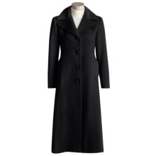 Jonathan Michael Polished Coat - Camel Hair, Petite (For Women) in Black - Closeouts