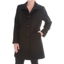 Jonathan Michael Single-Breasted Wool Coat (For Women) in Black Poodle - Closeouts