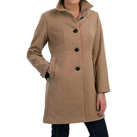 Jonathan Michael Single-Breasted Wool Coat (For Women) in Camel - Closeouts
