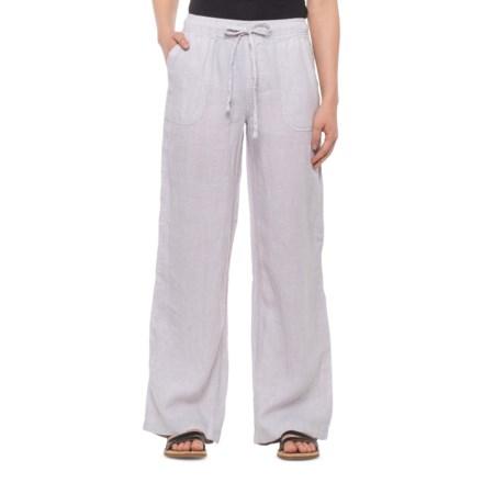 700d90da Jones & Co Desk Work Cross-Dye Pull-On Pants - Linen (For